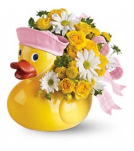 Teleflora's Ducky Delight Bouquet - Girl