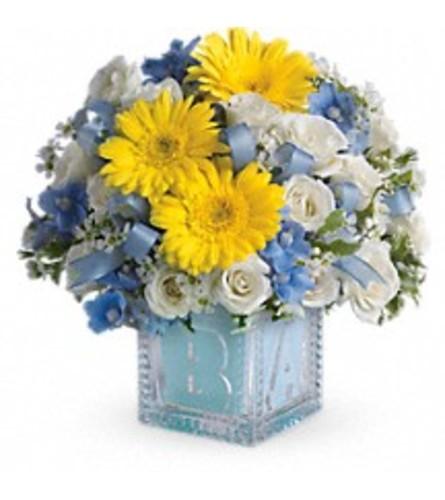 Baby's First Block Bouquet  -  Blue