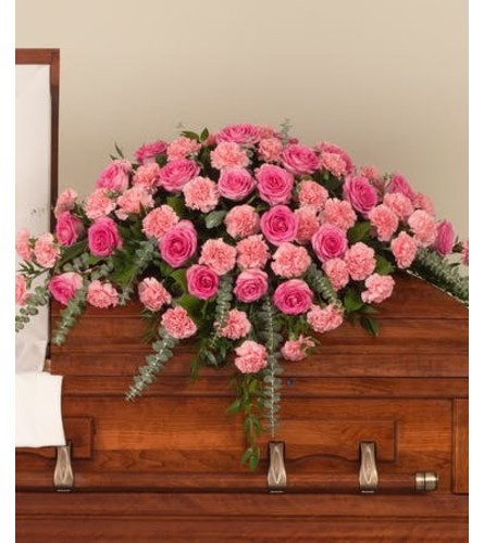 Pink Passion Casket Spray