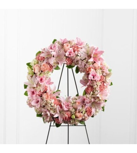Pink Passion Standing Wreath