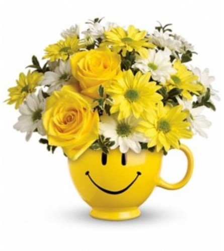 Happy flowers bouquet with a smile