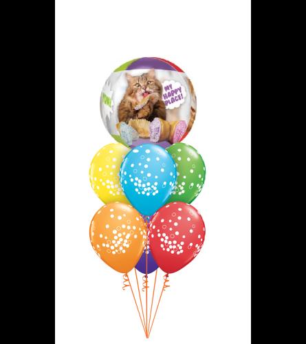 Cat Party Bubble Balloon Bouquet