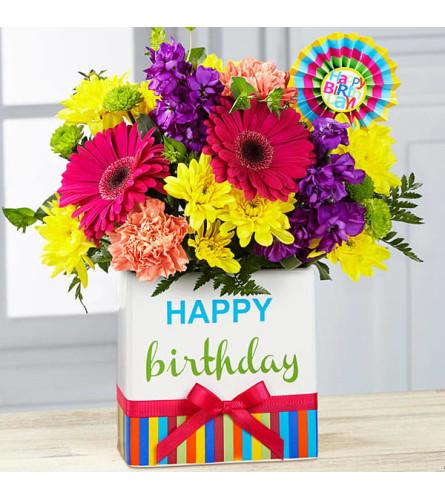 Birthday bright color bouquet