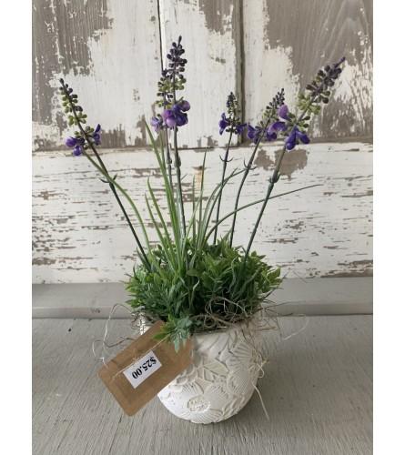 Silk Lavender Vase