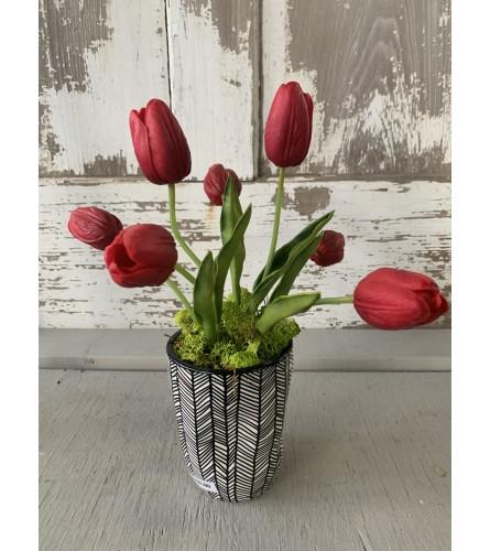 Silk Tulip Vase