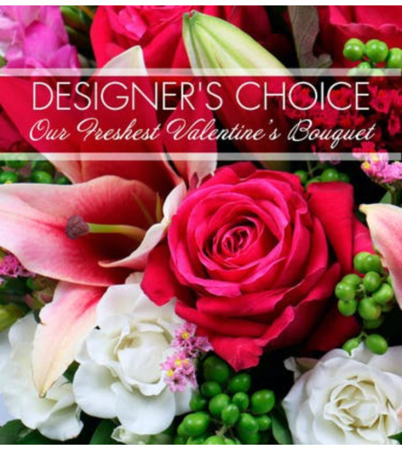Valentine's Day Designers Choice Vase Arrangement