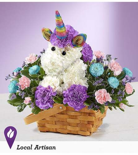 ENCHANTING UNICORN BASKET