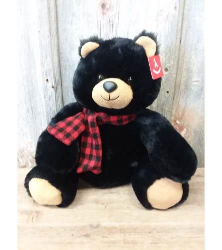 Black Plush Bear