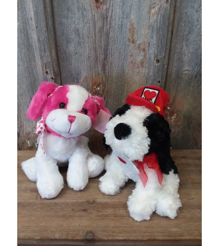 Plush Puppy (Pink or Black)