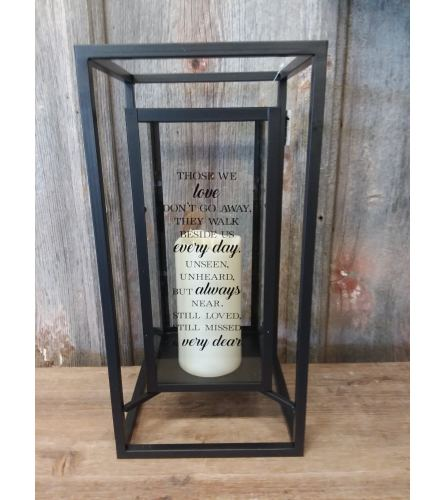 Black Frame Candle 'Those We Love'