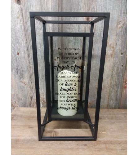 Black Frame Candle 'With Tears of Sorrow'