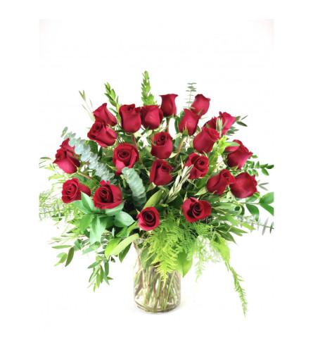 Two Dozen Long Stem Premium Red Roses