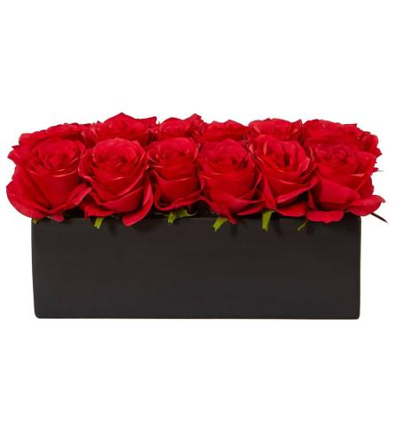 Natural Roses in Ceramic