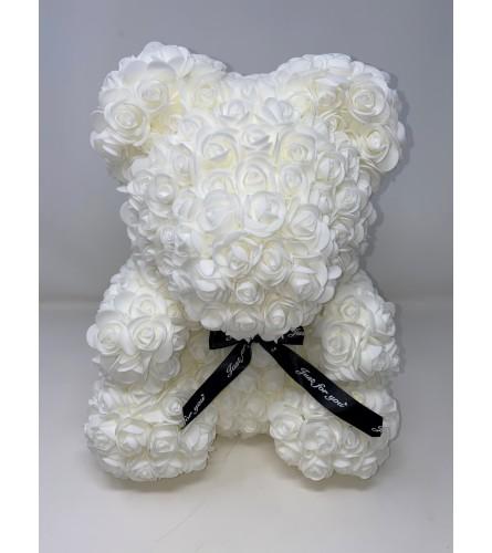 "Rose Bear 16"" White"