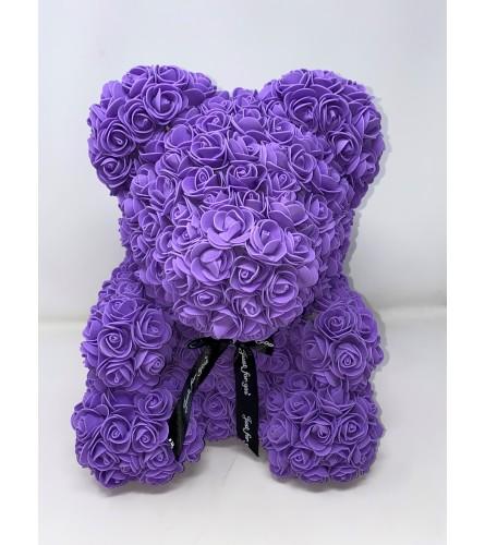 "Rose Bear 16"" Purple"