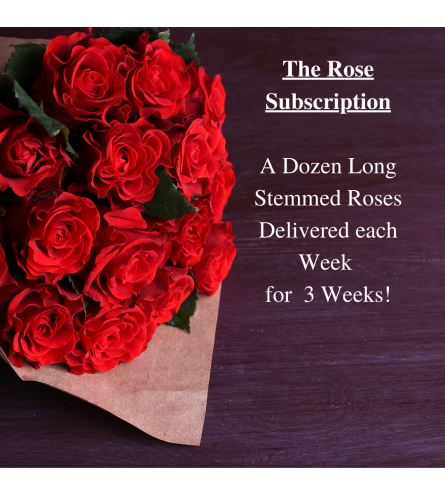 3 week Rose Subscription!