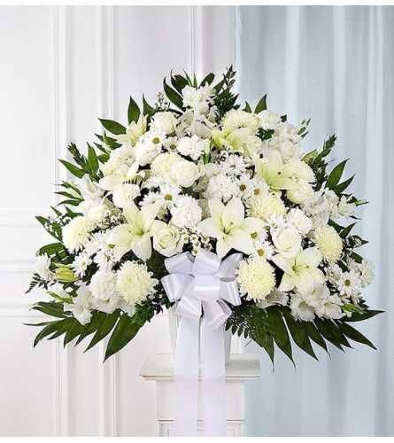 Heartfelt Sympathies™ White Standing Sympathy Basket
