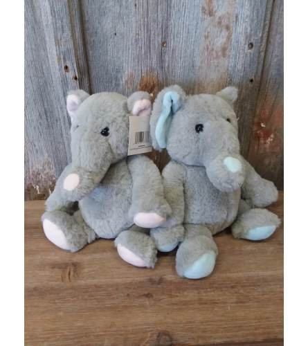 Plush Elephant -Large (ONLY BLUE)