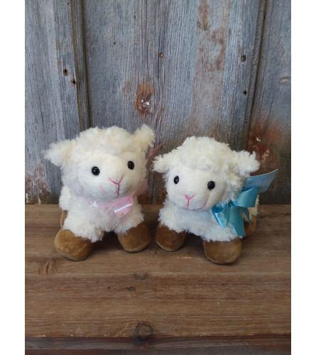 Plush Lamb Small (Pink or Blue)