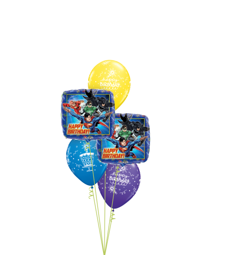 Justice League Birthday Classic Balloon Bouquet