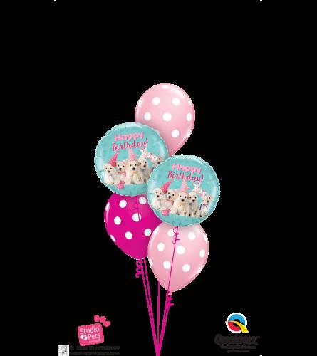 Birthday Doggies Classic Balloon Bouquet