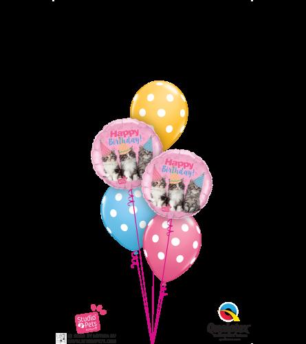 Birthday Kitties Classic Balloon Bouquet
