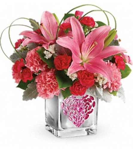 Jeweled Pink Heart Bouquet