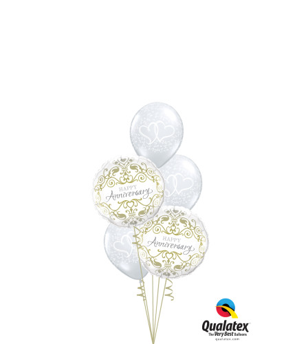 Today, Tomorrow and Always... Classic Confetti Balloon Bouquet