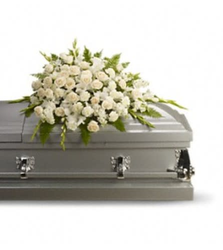 White Casket Spray by O'Flowers