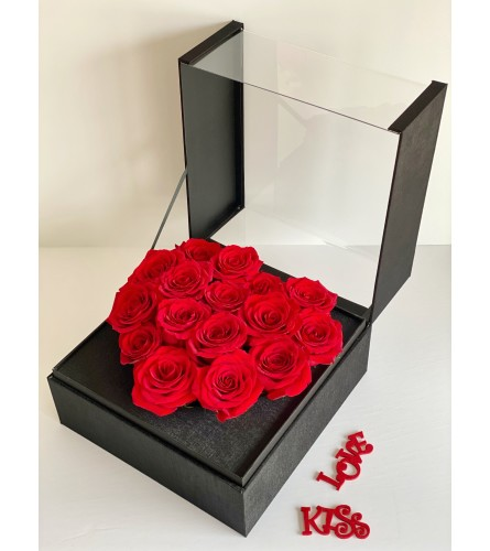 Incredible Square Flower Box (grey, pink, black, red boxes)