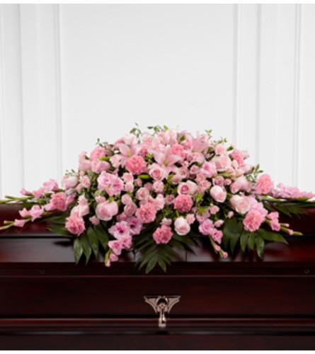 Pink Casket Spray by O'Flowers