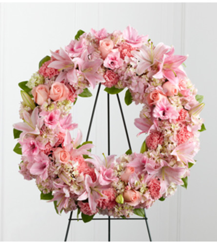 Pink Wreath by O'Flowers
