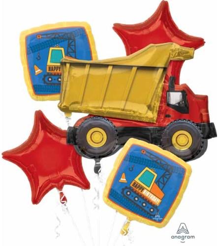 Construction Birthday Super Fun Foil Balloon Bouquet