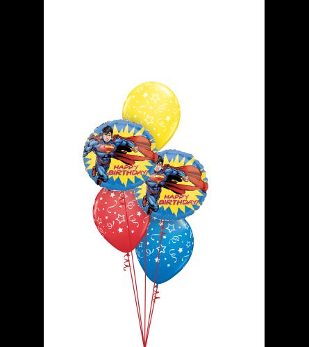 Superman Birthday Classic Balloon Bouquet