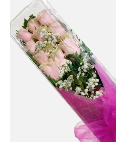 Light Pink Boxed Roses