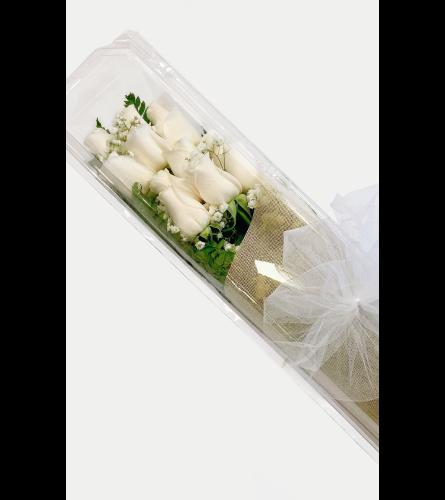 White Boxed Roses