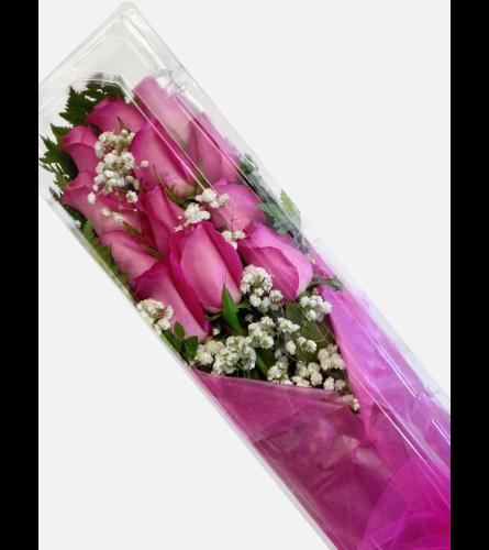 Fuchsia Boxed Roses