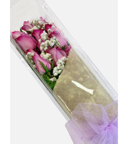 Purple Boxed Roses