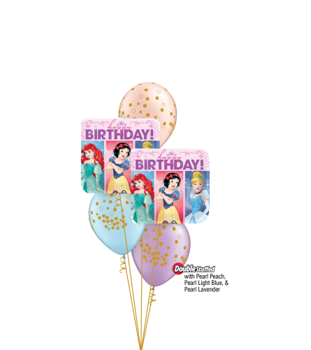Princess Birthday Classic Confetti Balloon Bouquet