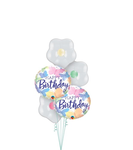 Brilliant Butterfly Birthday Blossom Balloon Bouquet