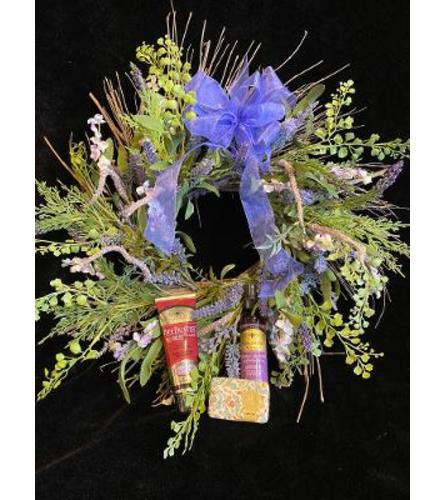 LAVENDER WREATH & GIFT COMBO