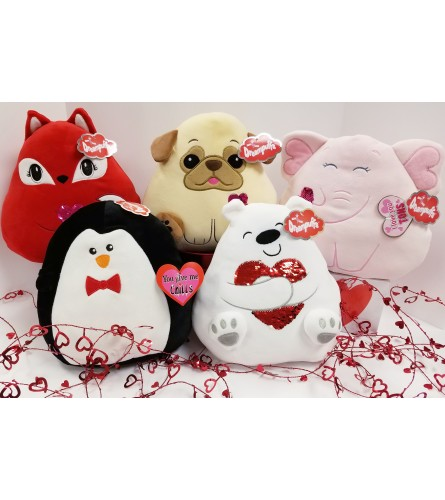 Valentine Dreampuffs,  Assorted Plush
