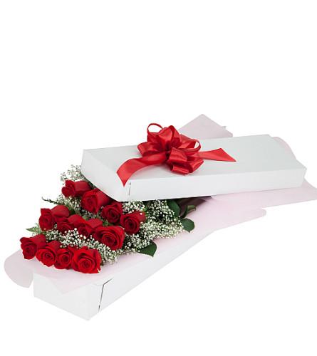 Dozen Red Roses In Box