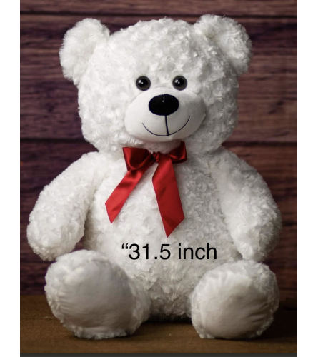 White Cuddle Teddy Bear