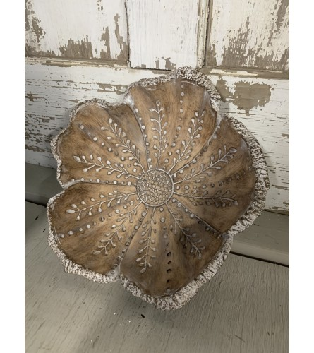 Carved Flower Tray