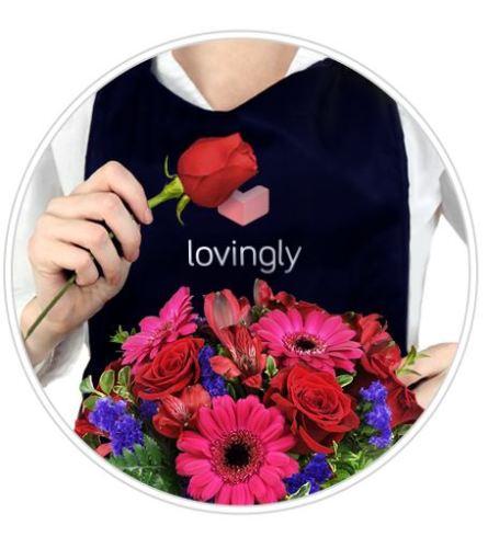 Valentines Designer Hand-tied bouquet