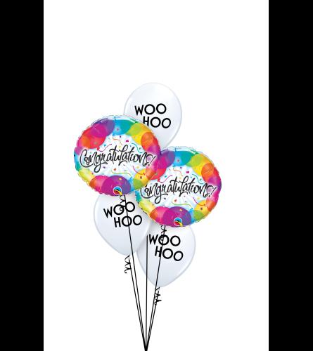 Woo Hoo Congratulations! Classic Balloon Bouquet