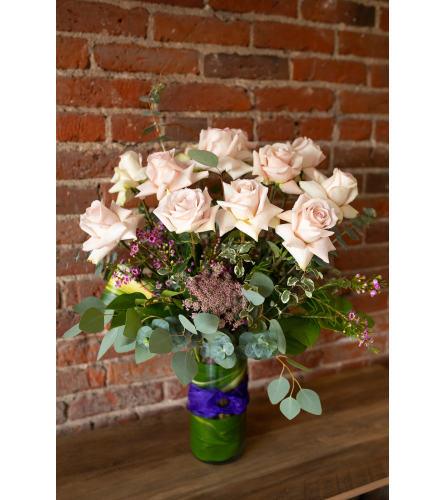 Romantic Roses: 1 Dozen Light Pink Roses