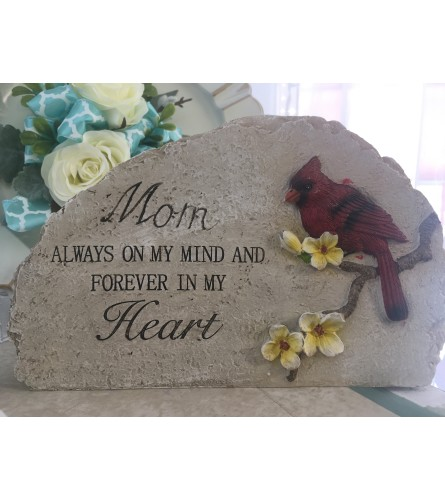 Cardinal Garden Stone- Mom