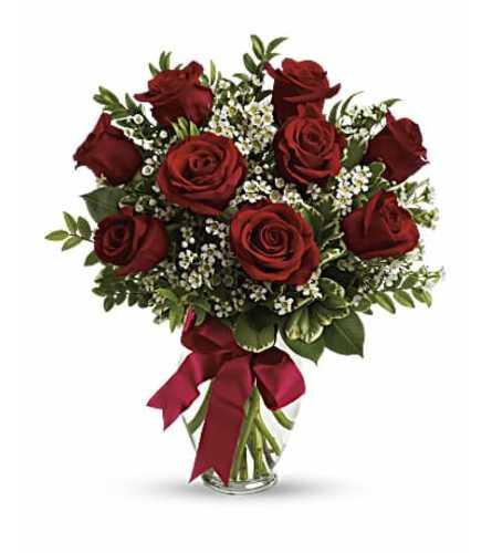 One Dozen Red Short Stem Roses